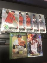 MLB棒球 BOWMAN CHROME系列 红袜 特卡7张打包