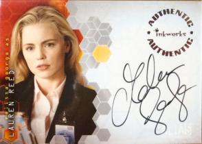 Inkworks 双面女间谍 梅利莎 乔治 签名 签字 恐怖游轮