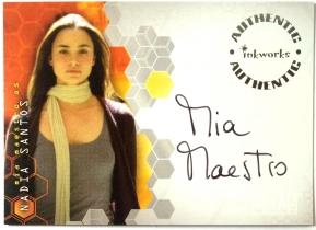 美剧 Alias 米娅 梅斯特罗 Mia Maestro 签字 签名 血族