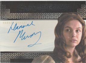 美剧 权力的游戏 Gilly 汉娜·穆雷 Hannah Murray 签字 皮囊