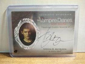 VAMPIRE DIARIES 史蒂文·R·麦奎因Steven R. McQueen 吸血鬼日记杰里米Jeremy Gilbert签名卡  H9