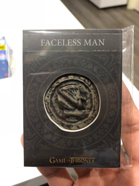 权力的游戏 冰与火之歌 瓦雷利亚钢 高端盒 无面者硬币 实物卡 SSP