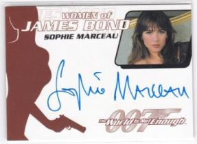 影视剧卡 007 女神苏菲玛索 签字签名卡 1962-2002