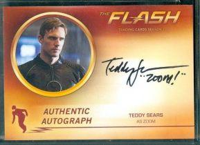 美剧 DC FLASH 闪电侠 Teddy Sears ZOOM 黑闪电 逆闪 签字 签名