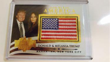 2016 decision 美国大选 现任美国总统 特朗普夫妇 美国国旗刺绣 特卡
