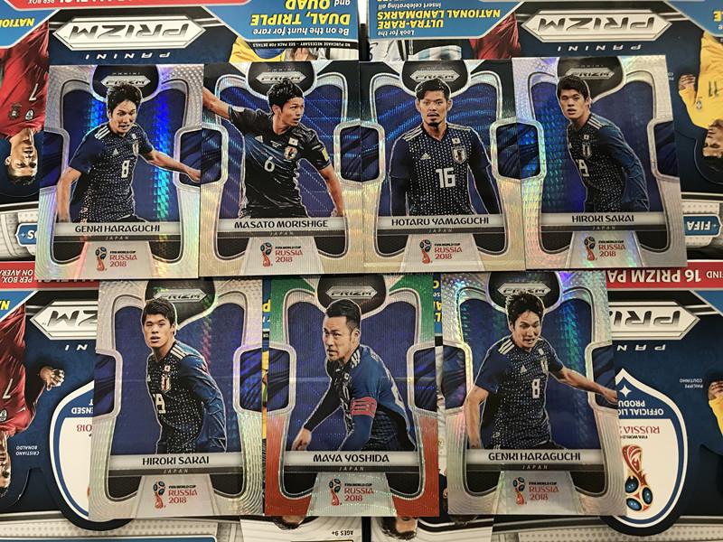 2018 世界杯 16强 日本7张 各类银折Hyper折镭射折绿红折Mojo折黑金折