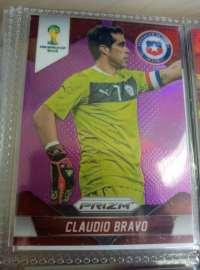 2014世界杯PRIZM PRIZM元年最有价 智利门将 布拉沃 曼城 巴塞罗那 巴萨 稀有限量99编紫折