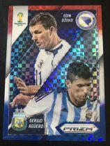 2014 prizm 世界杯 哲科 阿圭罗 波黑 阿根廷 双人对决特卡 三色格子折射 no.12