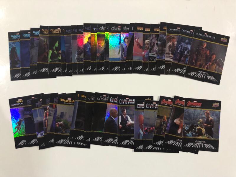 2018 UD 漫威 复仇者联盟3 无限之路特卡套!40张全套!这套特卡集合了漫威所有电影合集 超级棒!漫威迷一定不要错过!