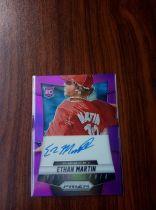 2014 Panini Prizm MLB 棒球 费城人 新秀 RC Ethan Martin 紫折 卡签 36/99