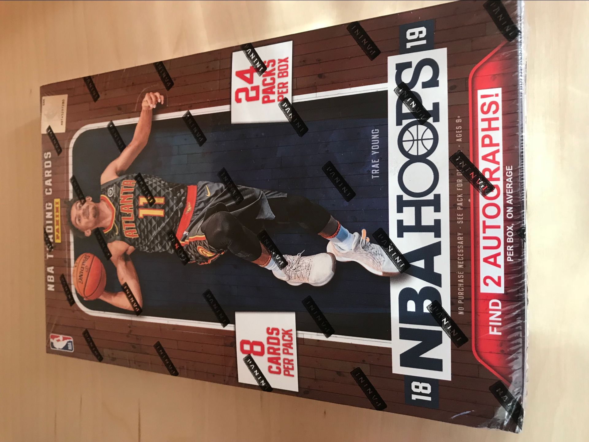 2018-2019 PANINI HOOP系列 原箱20合拍卖第16合尾号58,一盒2签字,艾顿、巴格利、东契奇、特雷杨等RC首款签字、低编、总冠军之路、1-1等