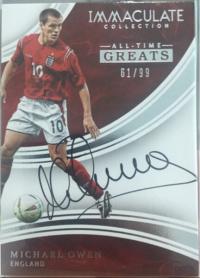 迈克尔欧文imm系列all-time greats历史巨星签字卡99编 卡签