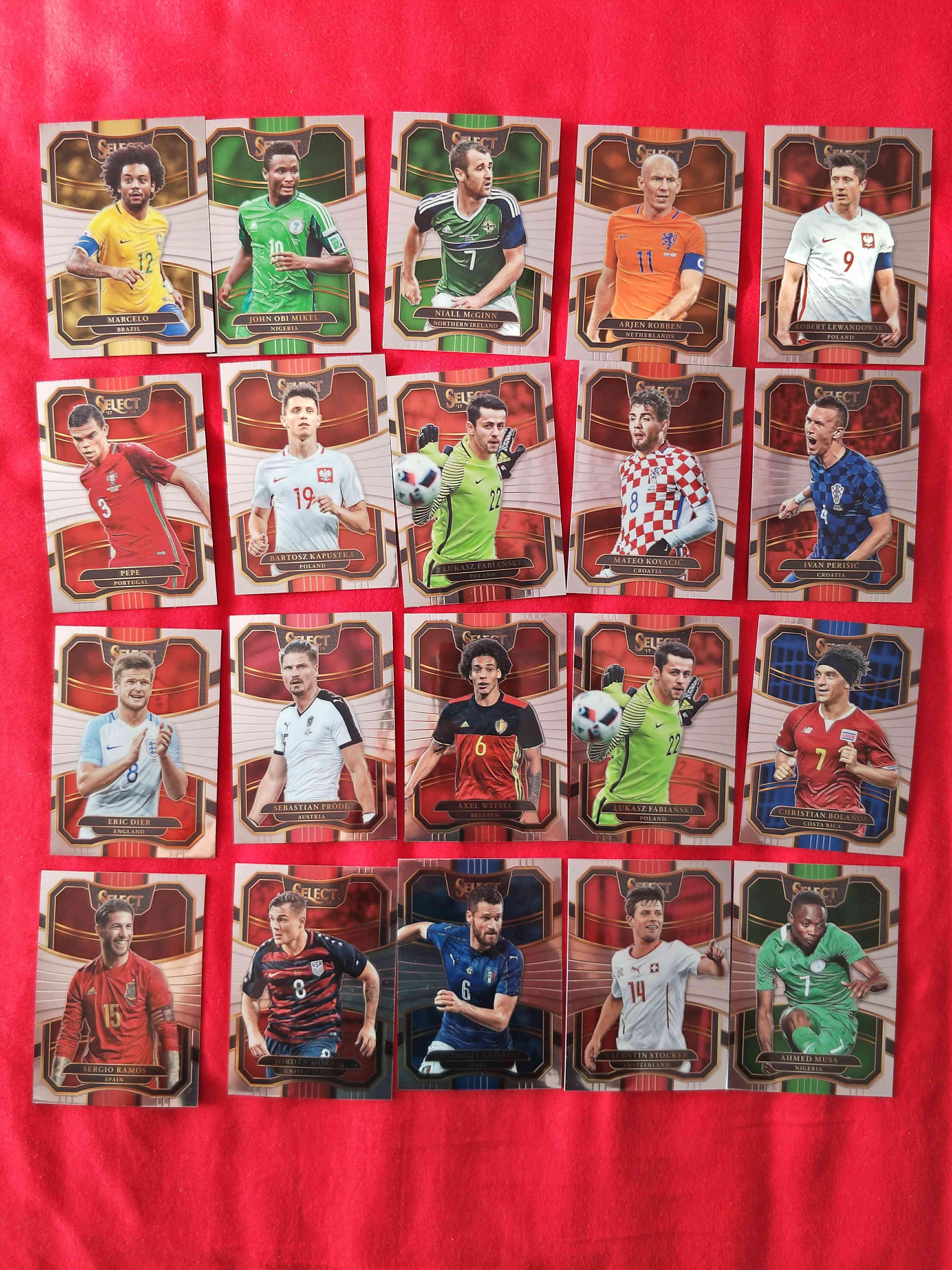 2017-18足球普折卡,世界杯系列,凑套必备