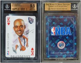 文斯 卡特 金标评级 BGS9.5 NBA官方扑克卡 印刷签字