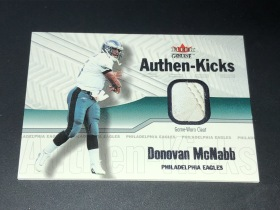 NFL 费城老鹰队 MCNABB 麦克纳布 2002 FLEER 比赛 球鞋鞋皮卡,当年在费城与AI 齐名的角色。