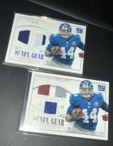 NFL 橄榄球 国宝RC 纽约巨人队 球衣球皮手套 实物卡 LOT2