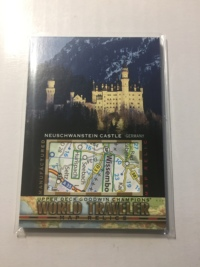 2017 Goodwin 世界旅游地图特卡 天鹅城堡 德国 World Traveler Map Relics CASTLE NEUSCHWANSTEIN Germany WT-29 P47