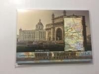 2017 Goodwin 世界旅游地图特卡 孟买 印度 World Traveler Map Relics Mumbai India,  India WT-28 P47