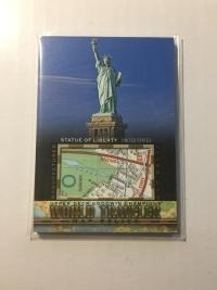 2017 Goodwin 世界旅游地图特卡 自由女神像 美国 World Traveler Map Relics Statue Of Liberty, USA WT-42 P47
