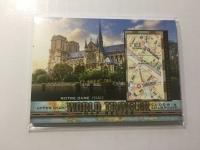 2017 Goodwin 世界旅游地图特卡 巴黎圣母院 法国 World Traveler Map Relics Notre Dame France WT-30 P47