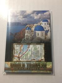 2017 Goodwin 世界旅游地图特卡 圣托里尼 希腊 World Traveler Map Relics Santorini, Greece WT-37 P47