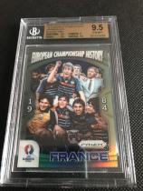 prizm euro欧洲杯历史冠军特卡 1984 冠军法国1/1黑折bgs 9.5