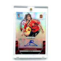 【23ING官方代卖】PANINI 2018世界杯系列 西班牙传奇队长 巴塞罗那 普约尔 9/25编 折射签字 KT6156