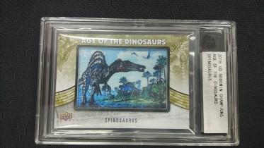 华莱士拍卖   UD  2015  恐龙系列   棘龙   刺绣    带砖     YJ