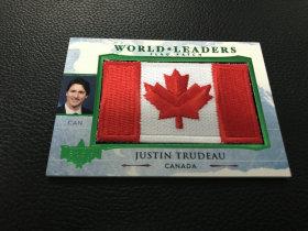 【LZK30】美国 大选 系列   国旗刺绣卡 加拿大总统!
