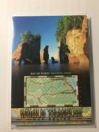 2018 Goodwin 世界旅游地图特卡 芬迪湾 加拿大 World Traveler Map Relics Bay of Fundy, Canada WT-56 P51