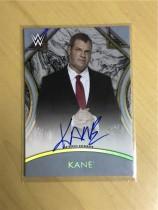 2018 Topps WWE Legends (WWE美国职业摔跤)Kane 签名卡 银色 平行(限量50,卡签)