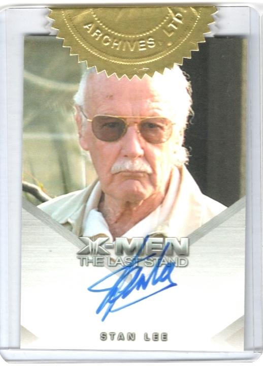 TOPPS X战警 漫威之父 Stan Lee 斯坦李 签字 复联 蜘蛛侠
