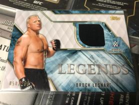 WWE 摔跤巨星 BROCK LESNAR 布洛克 莱斯纳 传奇 衣服实物卡.299