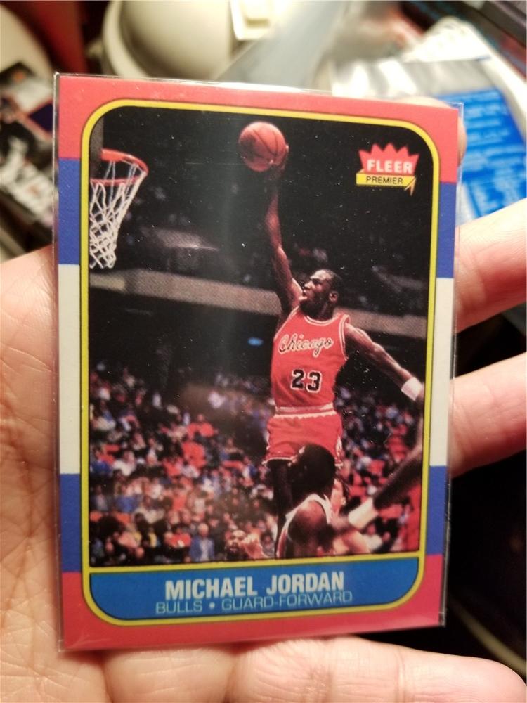 NBA 球星卡 绝版 FLEER 复刻新秀 特卡 迈克尔 乔丹 最著名的卡