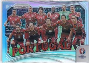 PA2 大赚哥专卖 2016年 足球prizm欧洲杯系列 葡萄牙 全家福 银折 普折