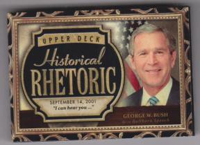 乔治 沃克 布什 2015 UD 历史人物有声卡 超厚 美国总统