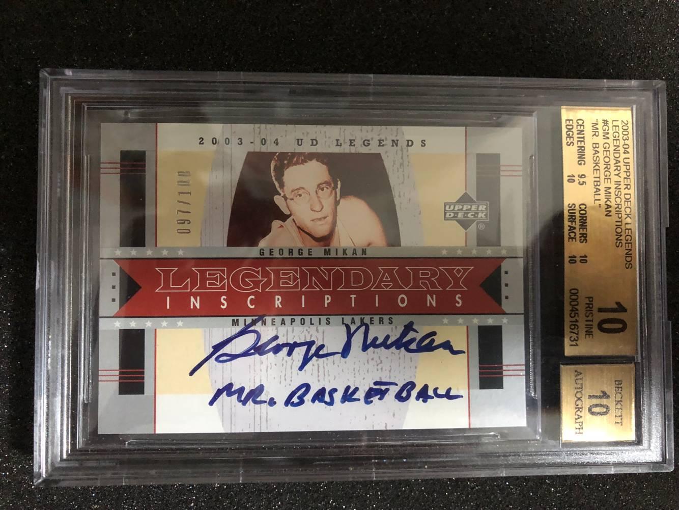 乔治麦肯 绰号签 真正的100遍 双10金标 NBA历史上第一位超级巨星