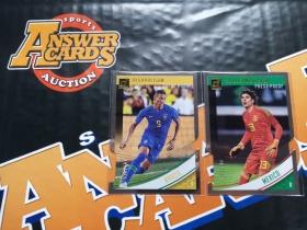 Y001《答案卡世界》拍卖 1819 donruss 杜蕾斯足球 奥乔亚 & 理查尔利逊 切割 平行 限量 lots /100