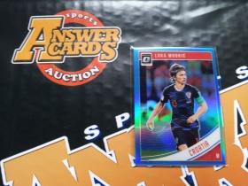 Y001《答案卡世界》拍卖 1819 donruss 杜蕾斯足球 克罗地亚 魔笛 莫德里奇 optic版 蓝折 限量 /149!