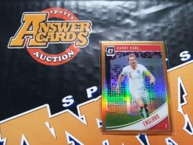 Y001《答案卡世界》拍卖 1819 donruss 杜蕾斯足球 英格兰 凯恩 optic版 橙折 限量 /99!