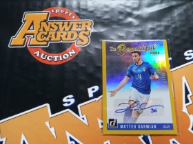 Y001《答案卡世界》拍卖 1819 donruss 杜蕾斯足球 意大利 DARMIAN 达米安 金折 限量 签字 /75!sp