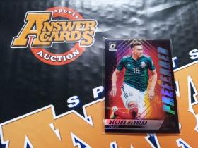 Y001《答案卡世界》拍卖 1819 donruss 杜蕾斯足球 墨西哥 赫雷拉 optic版 折射 特卡!