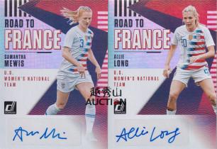 【越秀山拍卖】Donruss 2018-19新杜蕾斯-美国女足小姐姐梅维斯 阿里郎签字2卡打包LotYXS1912047