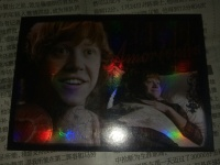 哈利波特影视卡亮面特卡 罗恩 集齐背面是拼图
