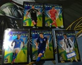 【1118】<<苏州卡通球星卡>> 足球 OPTIC  稀少特卡  5张不同一起 凑套必备  普利西奇  阿奎罗 带队
