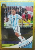 【1118】<<苏州卡通球星卡>> 足球 DONRUSS  金折  限量 /75  保罗·迪巴拉(Paulo Dybala)