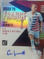 【1118】<<苏州卡通球星卡>> 足球 DONRUSS  女足  签名  AUTO  emily sonnett