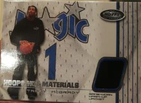【1118】<<苏州卡通球星卡>> 2001 FLEER HOOPS HOT JERSEY 球衣 TRACY MCGRADY 麦迪 (N多年老卡,品如图)