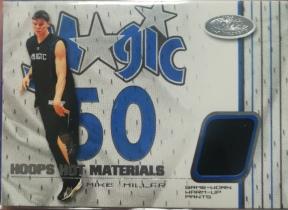 【1118】<<苏州卡通球星卡>> 2001 FLEER HOOPS HOT JERSEY 球衣 MIKE MILLER 米勒 (N多年老卡,品如图)