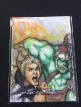 华莱士拍卖  UD 漫威 Marvel 雷神 手绘 1/1 画师 Ellse Strong  雷神和绿巨人   WM